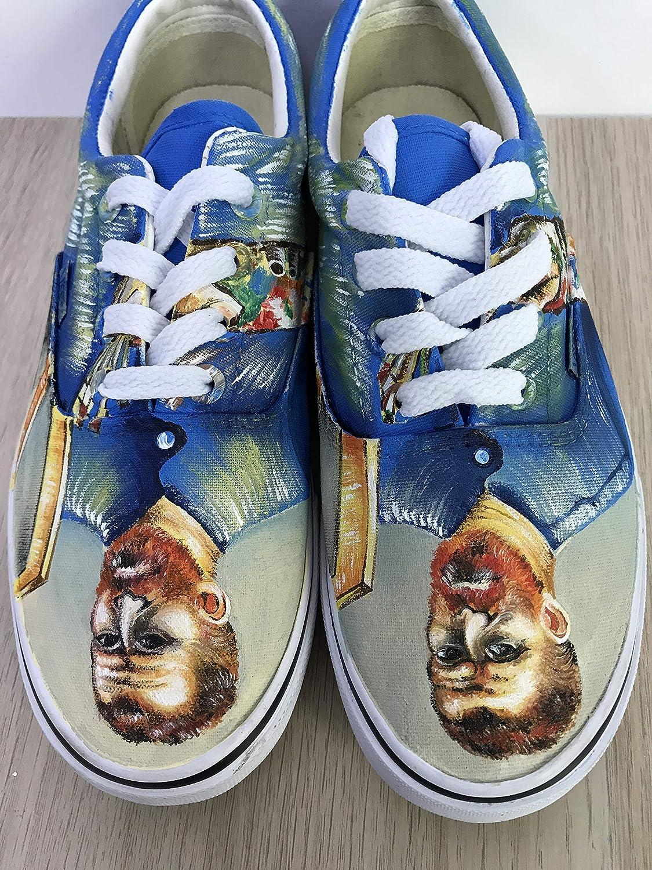 b1c01792fc Amazon.com  Vincent van Gogh Vans Custom Vans Authentic Shoes Custom Vans  Sneakers FREE SHPPING  Handmade