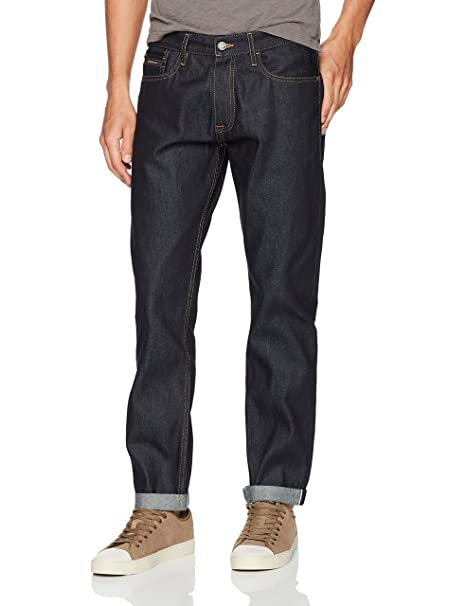 beautiful in colour favorable price best sale Calvin Klein Men's Straight Taper Fit Jean, Selvedge Raw ...