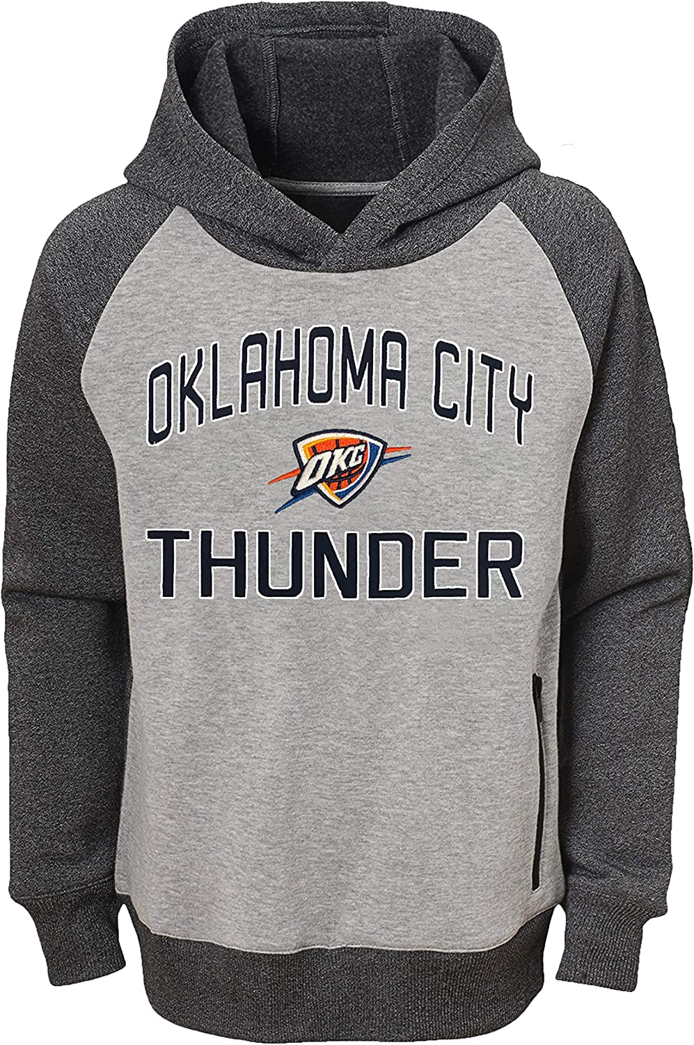 Outerstuff NBA Youth 8-20 Gray Foundation Raglan Pullover Sweatshirt Hoodie