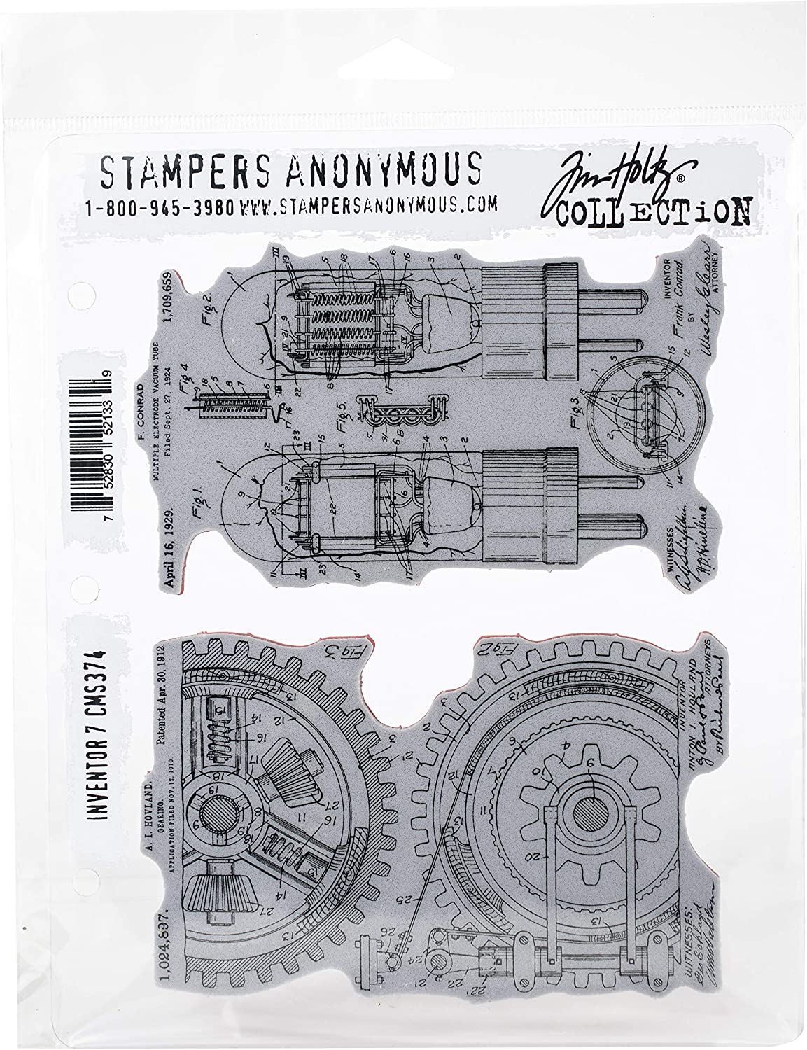 Stampers Anonymous SPACMS.374 ClngStp THoltz Inventor #7