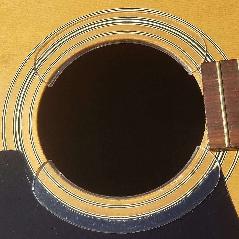 STRUMHARD Guitar Soundhole Guard/Soundhole Pick Strike Protector/Deflector (Clear) 4334366755