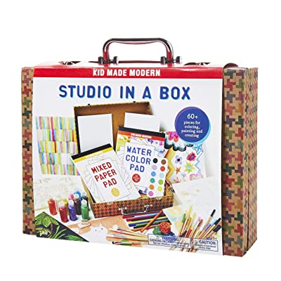 Kid Made Modern Studio in A Box Set - Painting Sketching and Coloring Arts and Crafts Kit: Toys & Games