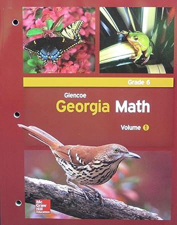 Amazoncom Glencoe Georgia Math Grade 6 Volume 1 Glencoe Health