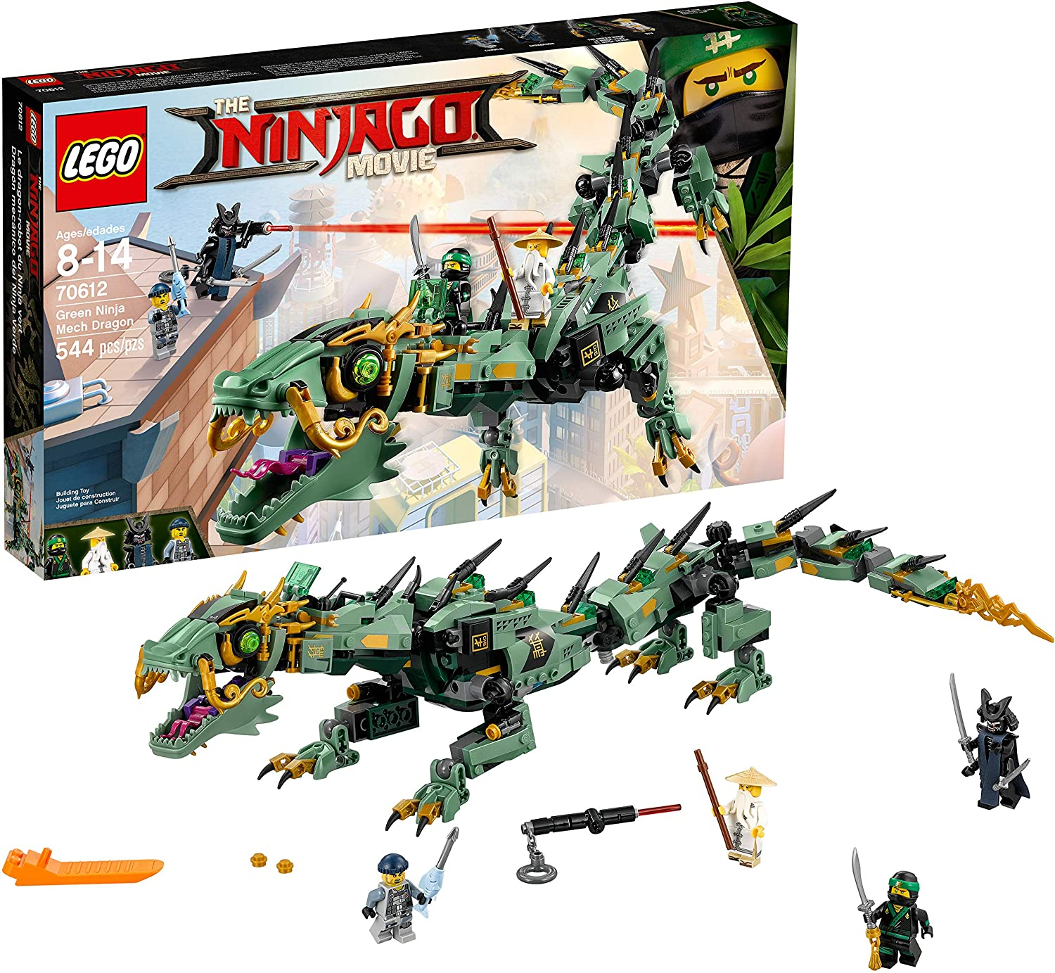 LEGO Ninjago Movie Green Ninja Mech Dragon 70612 Building ...