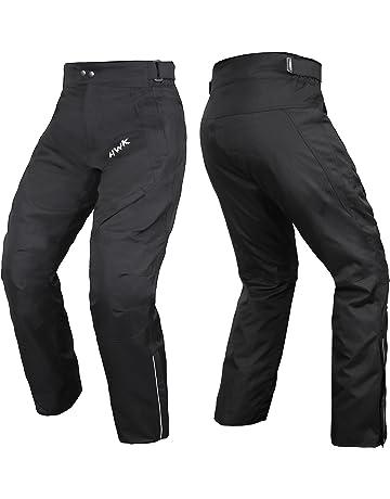 HWK Mens Black Textile Breathable Waterproof CE Armoured Motorbike  Overpants Motorcycle Trousers Pants b97879cd9d2