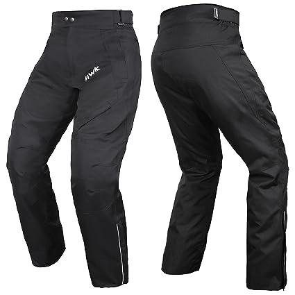 73273e62435c HWK Mens Black Textile Breathable Waterproof CE Armoured Motorbike  Overpants Motorcycle Trousers/Pants - 1 year Guarantee Waist30''-32''  Inseam30''