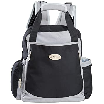 Backpack Diaper Bag for Dad and Mom with Stroller Straps and Baby Changing Pad