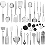 Best Choice Products 29-Piece Stainless Steel Kitchen Cooking Utensil Set w/Measuring Cups and Spoons - Silver