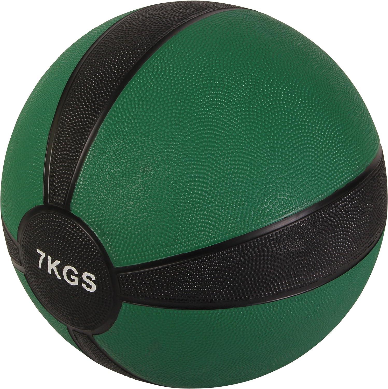POWRX - Balón Medicinal 7 kg + PDF Workout (Verde): Amazon.es ...