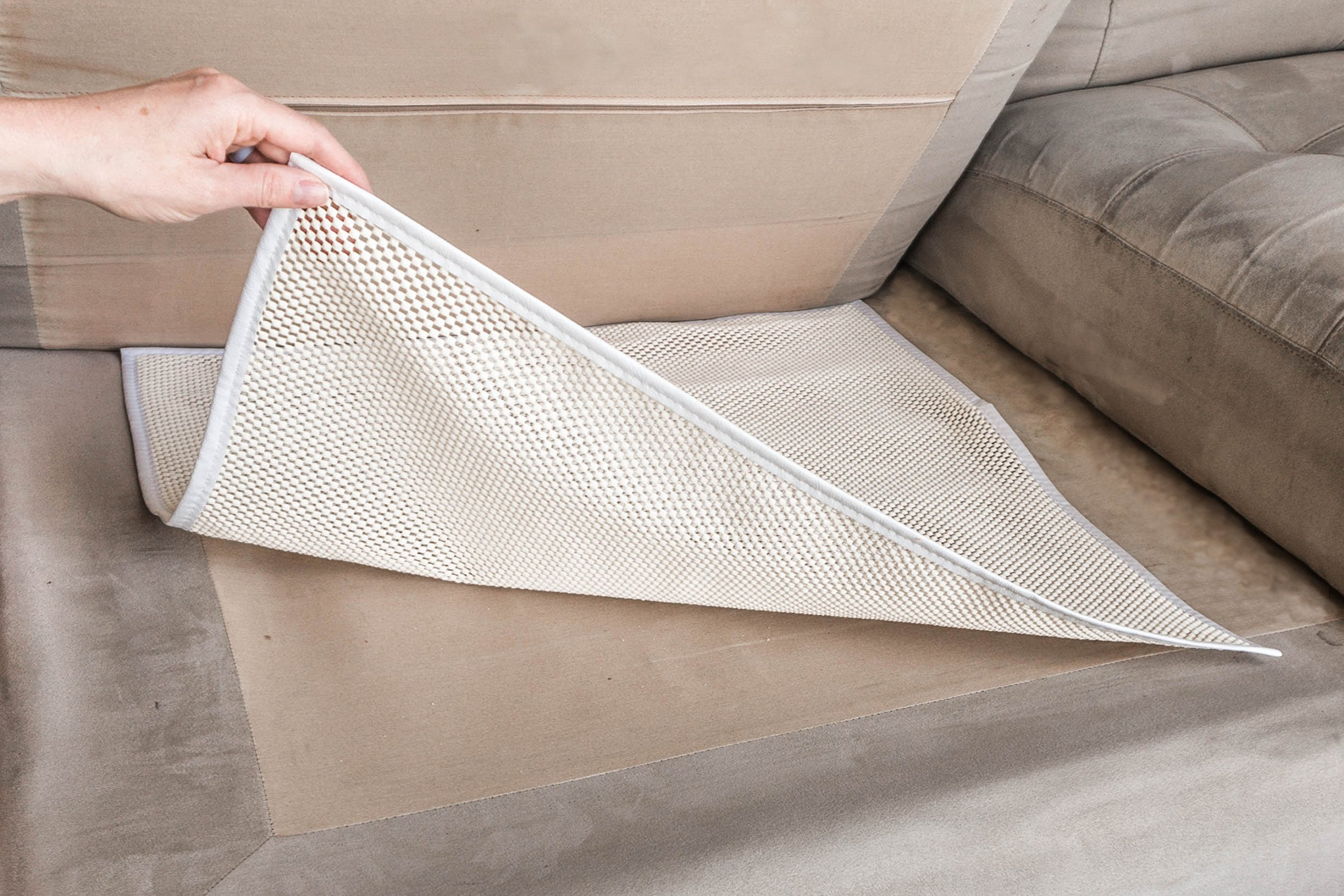 Cushion Stay Non-Slip Natural Rubber Underlay, Keep Cushions from Moving, Slipping or Sliding (3)