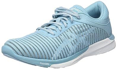 ASICS Women s Fuzex Rush Adapt Porcelain Blue White Smoke Blu Running  Shoes-5.5 8a160e74846