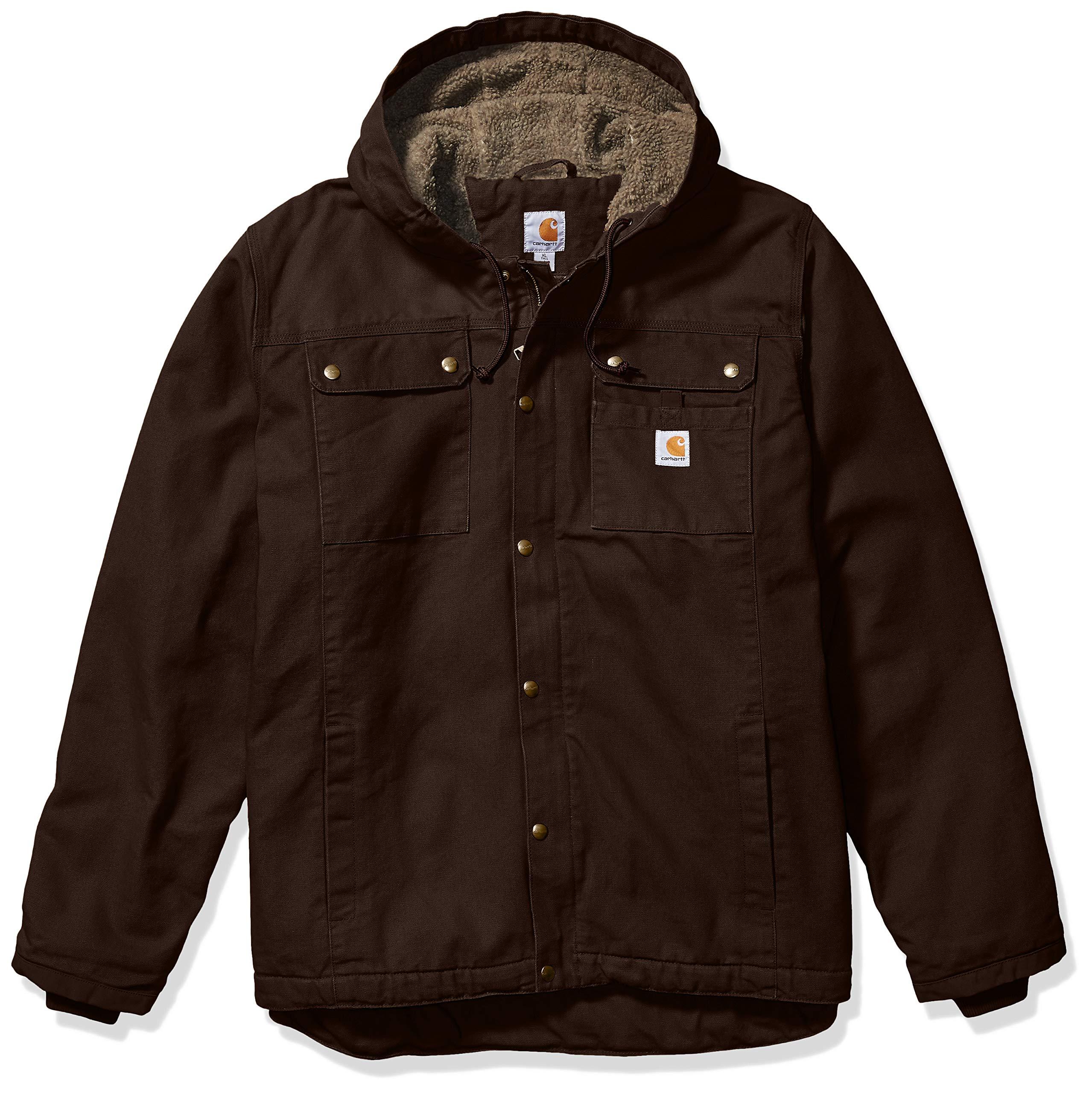 Carhartt Men's Big Bartlett Jacket (Regular and Big & Tall Sizes), Dark Brown, 3X-Large/Tall by Carhartt