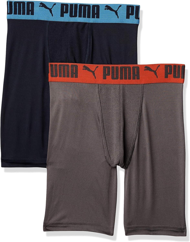 PUMA Boys Logo Performance Boxer Brief Boxer Briefs