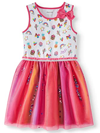 bf6583b96e7 Amazon.com  Girls Jojo Siwa Rainbow Tulle Dress  Clothing