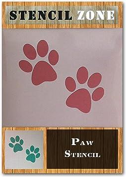 Perro Gato Animal Mascota Paw Print Mylar Aerógrafo Pintura Pared stencil manualidades uno