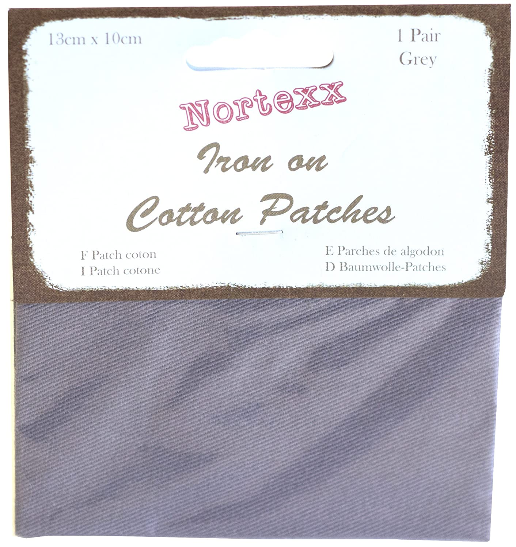 Nortexx - Parches para ropa, termoadhesivos, 1 par, color gris NDP/12