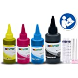 INKUTEN 4 Bottles Refill Ink (150ml Black, 100ml per color, total 450ml) For HP 972 HP972 972X and Color Made in the USA