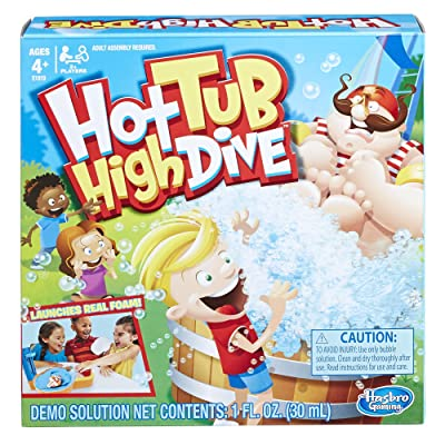 Hasbro Gaming Hot Tub High Dive Game With Bubbles For Kids Board Game For Boys and Girls Ages 4 and Up E1919: Toys & Games