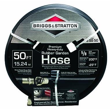 Briggs and Stratton 8BS50 50-Foot Premium Heavy-Duty Rubber Garden Hose