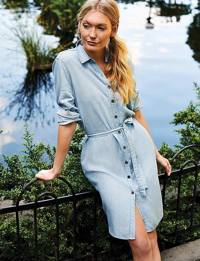 Goodthreads Tencel Short-Sleeve Shirt Dress Mujer Marca