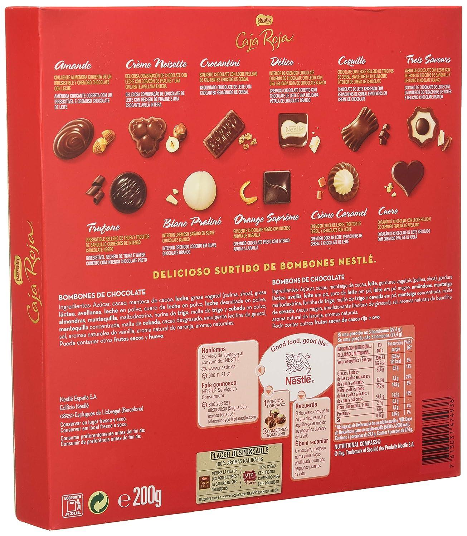 Nestlé Caja Roja - Bombones de Chocolate - Estuche de bombones 200 g: NESTLE: Amazon.es: Alimentación y bebidas