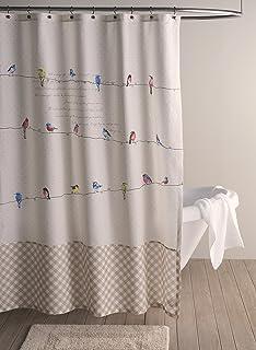 maison du0027 hermine birdies on wire 100 cotton shower curtain 72 inch by
