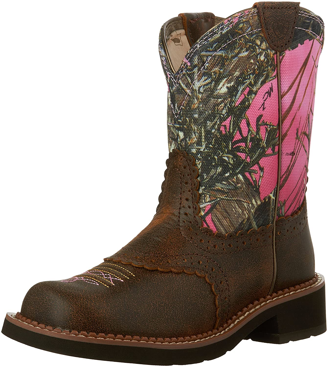 Ariat Women's Fatbaby Collection Western Cowboy Boot B00OQ299L4 7 B(M) US|Vintage Bomber/Pink Camo