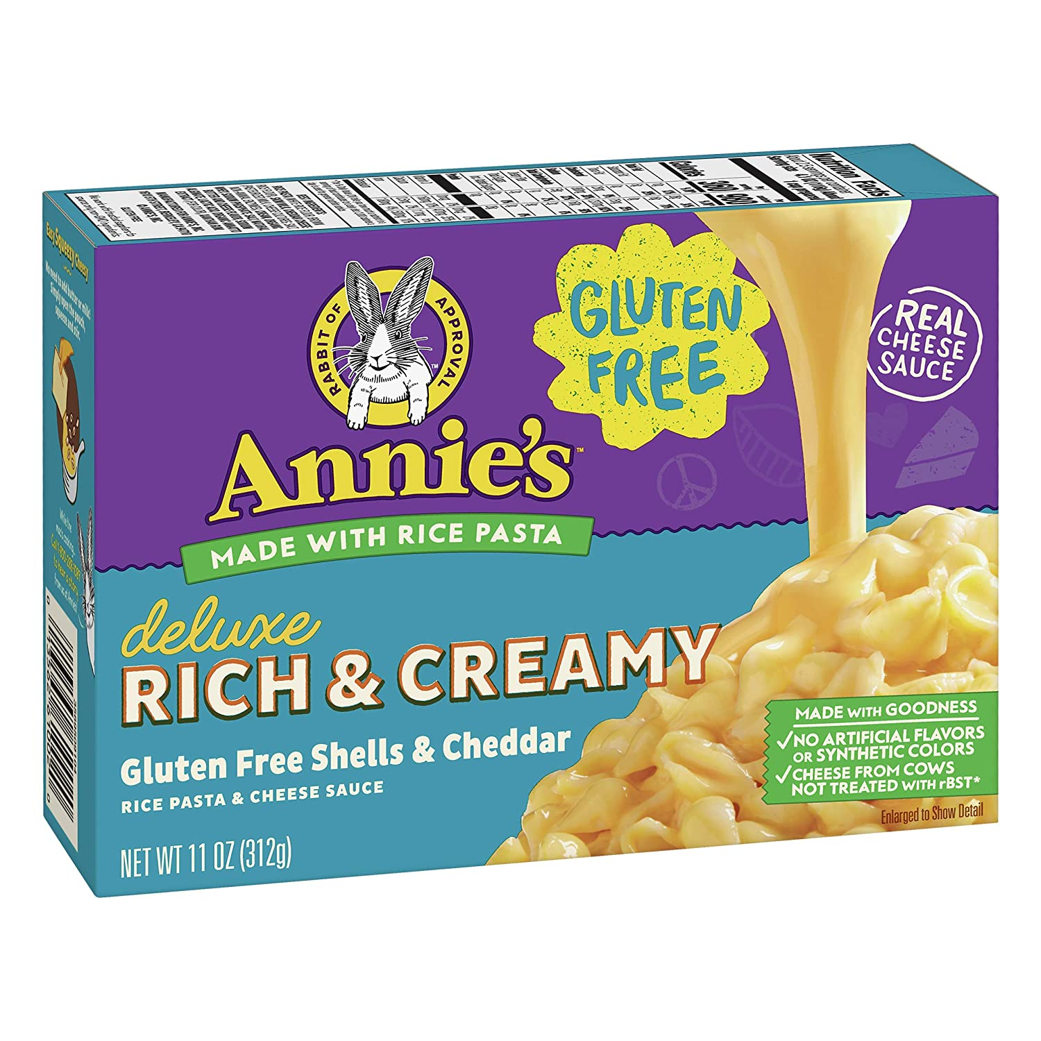 Annie's Gluten Free Creamy Deluxe Macaroni & Cheese, Rice Pasta & Cheddar, 11 oz (Pack of 12)