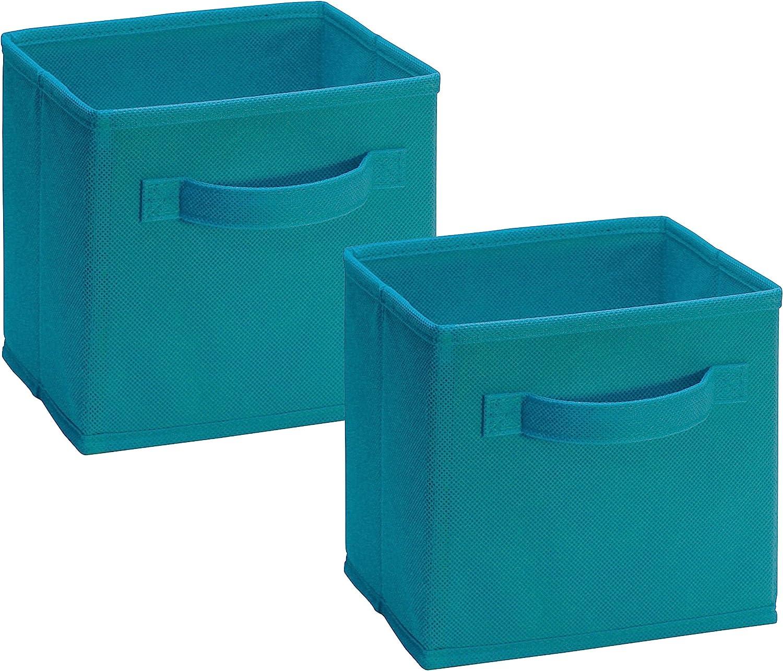 Closetmaid 1538 Cubeicals Mini Fabric Drawers, Ocean Blue, 2 Pack
