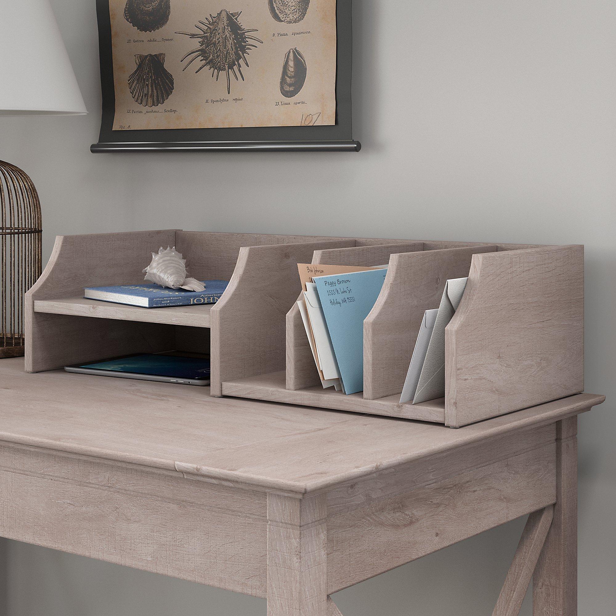 Bush Furniture KWS227WG-03 Desktop Organizer with Drawers, Washed Gray