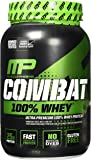 MusclePharm Combat 100% Whey Protein Powder, Cappuccino, 2 Pound
