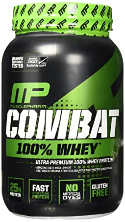 MusclePharm Combat 100 Whey Cappucino, Brown, 2 Pound