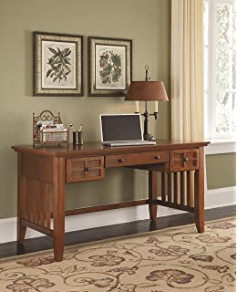 Home Styles 5180 15 Arts And Crafts Executive Desk, Cottage Oak Finish