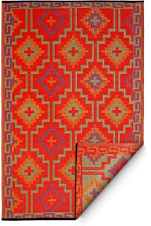 Fab Habitat Lhasa Indoor/Outdoor Rug (8u0027 X 10u0027) Orange And