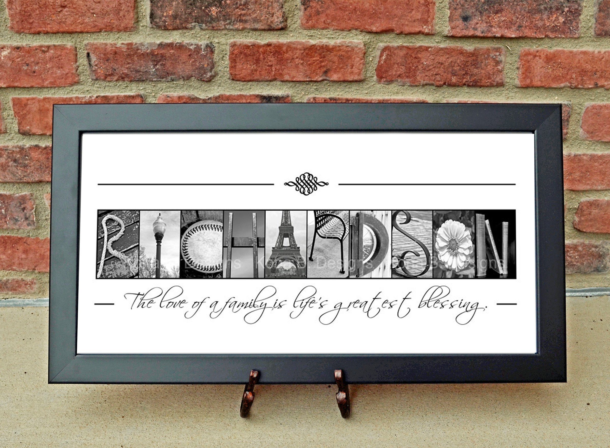 CUSTOM Family Name Sign, Alphabet Photography, Creative Letter Art, Custom Name Sign, Realtor's gift, Architectural Name Art