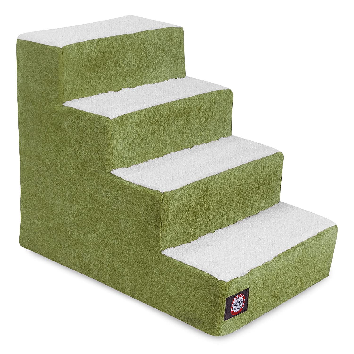 Majestic Pet 4 Step Portable Pet Stairs Products Villa Apple Steps for Cats and Dogs Green