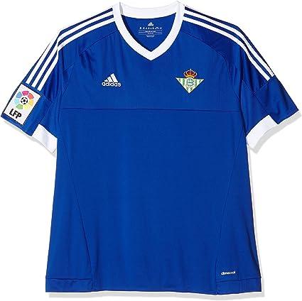 Anuncio mosquito ocupado  adidas 3 JSY Camiseta Real Betis Balompie 1ª Equipación 2015-2016, Hombre,  Azul/Blanco (Azufue/Blanco), 140: Amazon.es: Zapatos y complementos