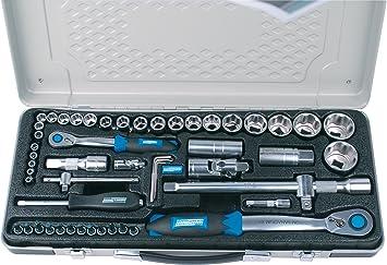 Brüder Mannesmann M29765 - Maletín con juego de llaves de vaso (55 piezas): Amazon.es: Bricolaje y herramientas