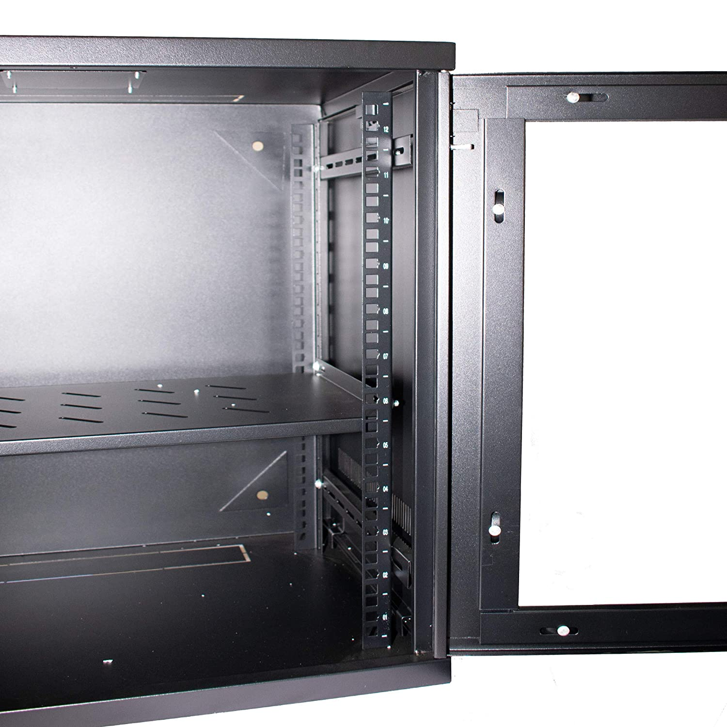 Black Lockable Glass Door//Removable Sides//Multiple Cable Entry Points 400mm deep I-CHOOSE LIMITED 6U 19 Wallmounting Rack Cabinet