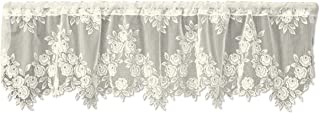 product image for Heritage Lace Tea Rose 60-Inch Wide by 17-Inch Drop Valance, Ecru