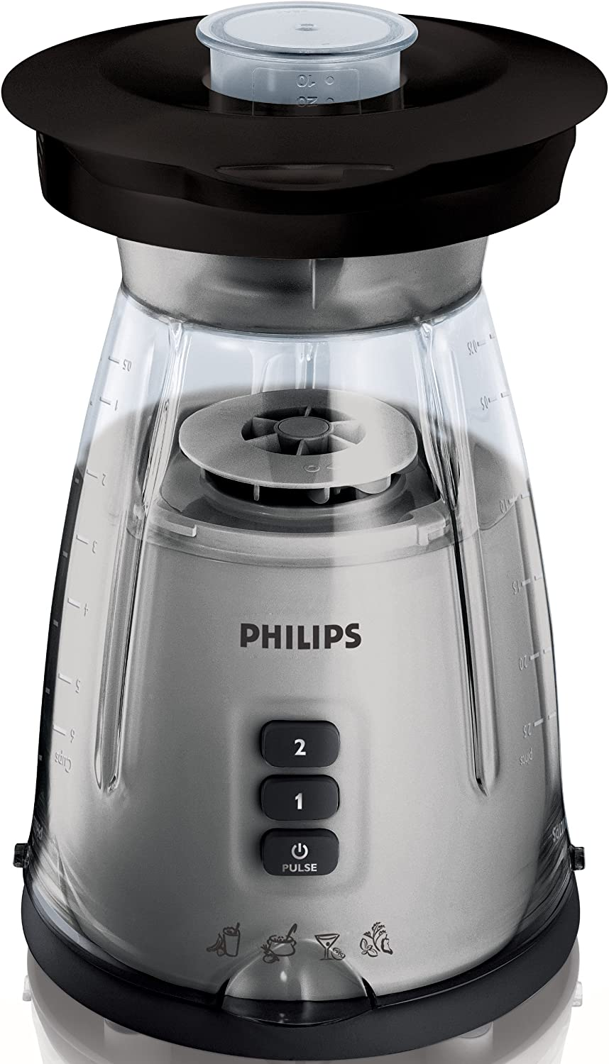 Philips HR2020/50 - Licuadora multifunción, 400 W, color negro ...