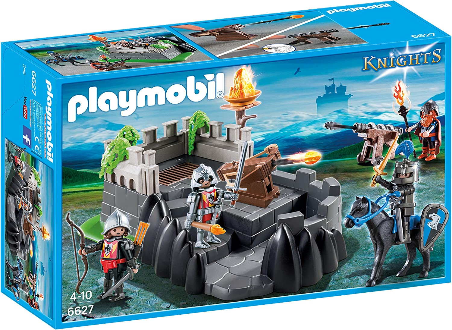 PLAYMOBIL Caballeros- Dragon Knights' Fort Playset, Multicolor, Miscelanea (6627)