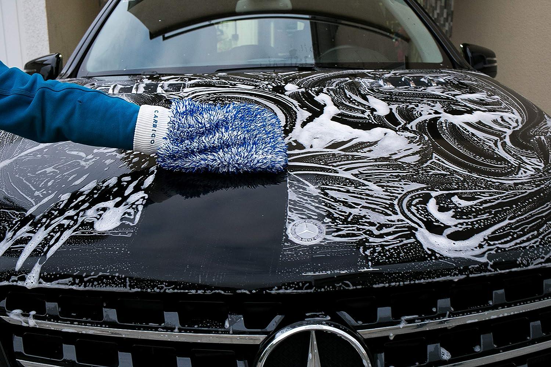 Carbigo 100/% guanto in microfibra auto guanto lavaggio auto cerchi auto spugna moto guanto autolavaggio cerchi acciaio auto guanto Molto assorbente Perfetto per la pulizia di auto e moto