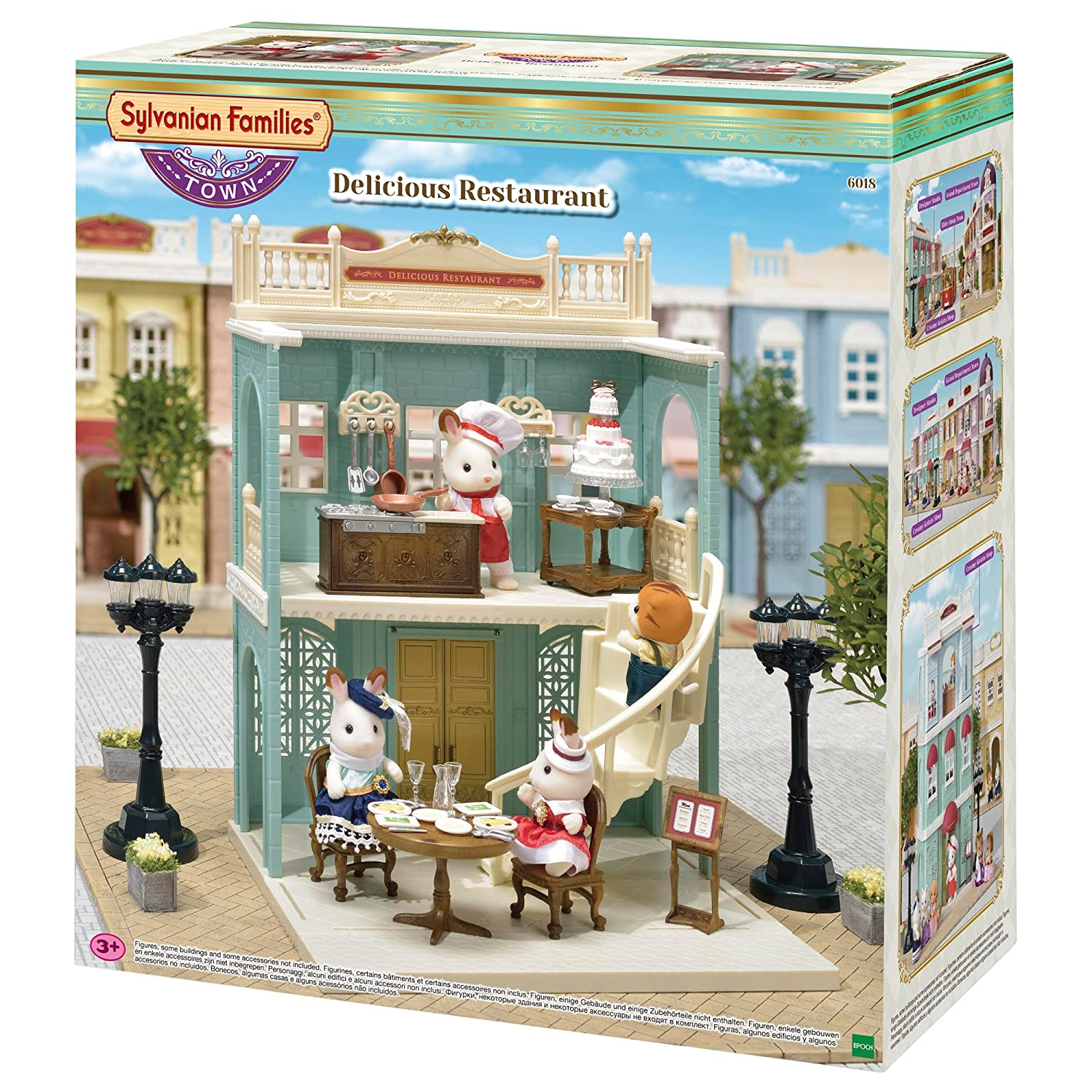 Sylvanian families 6018 delicious restaurant playset new town series sylvanian families amazon co uk toys games