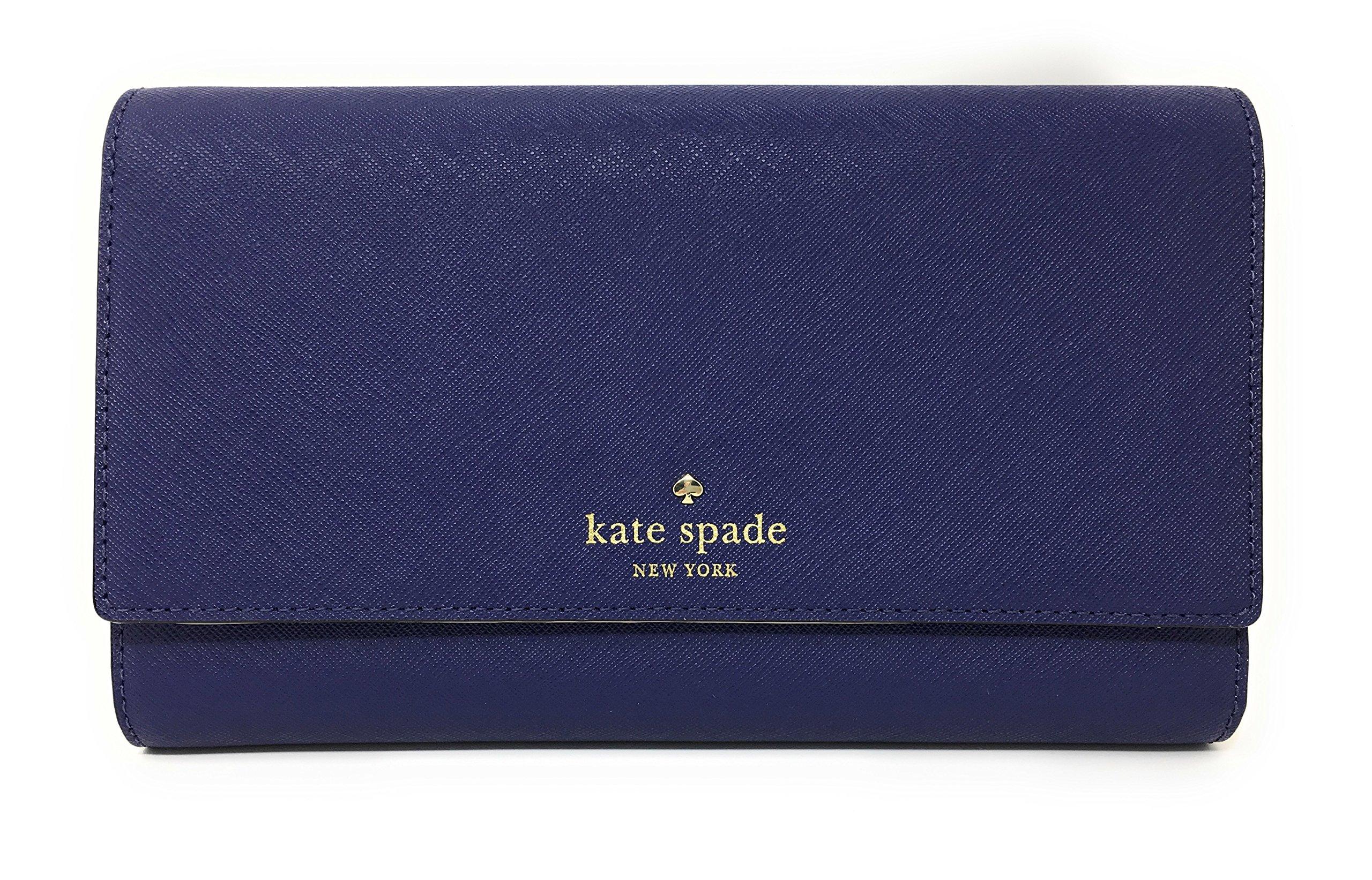 Kate Spade New York Mikas Pond Phoenix Trifold Leather Wallet (Sapphire)