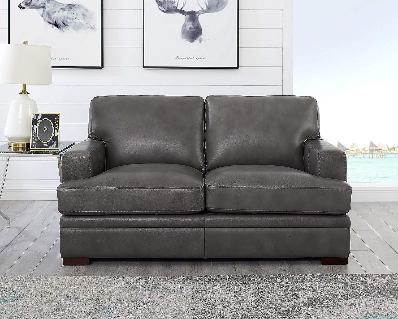 Amazon.com: Hydeline Georgia - Juego de sofá (100% piel ...