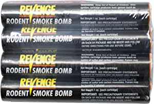 Bonide (BND61110) - Revenge Rodent Smoke Bombs, Mole and Gopher Killer, Poison, Repellent, Trap, Pack of 4