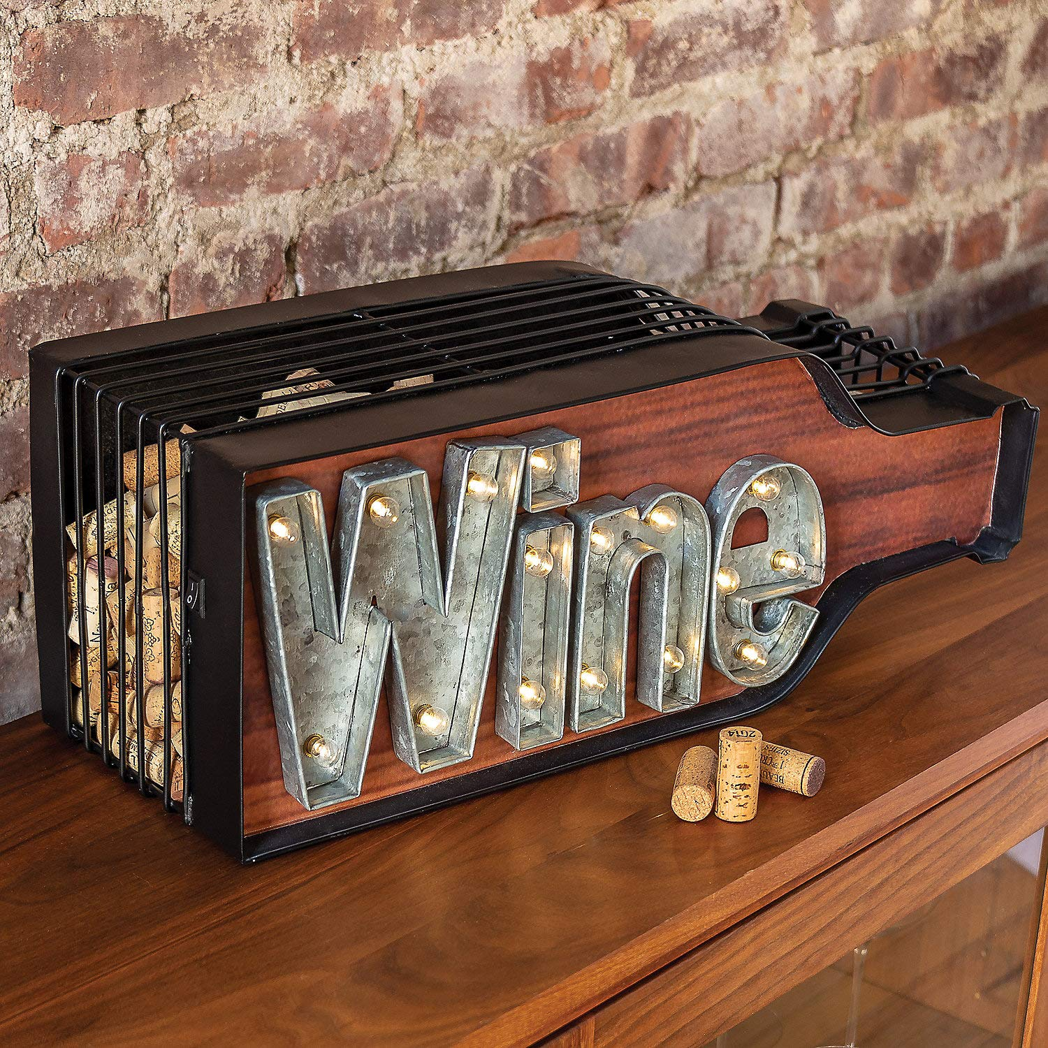 Lighted Wine Bottle Cork Catcher by Wine Enthusiast (Image #1)