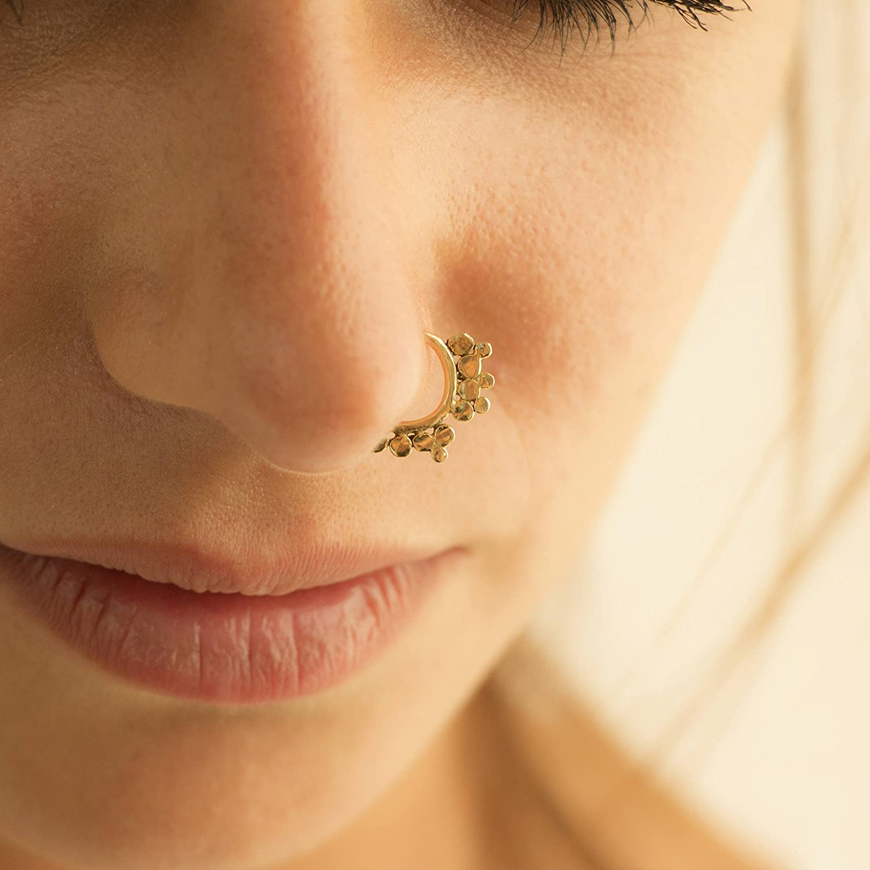 Helix 16g Nose Ring Fits Cartilage Septum Ring Tragus Handmade