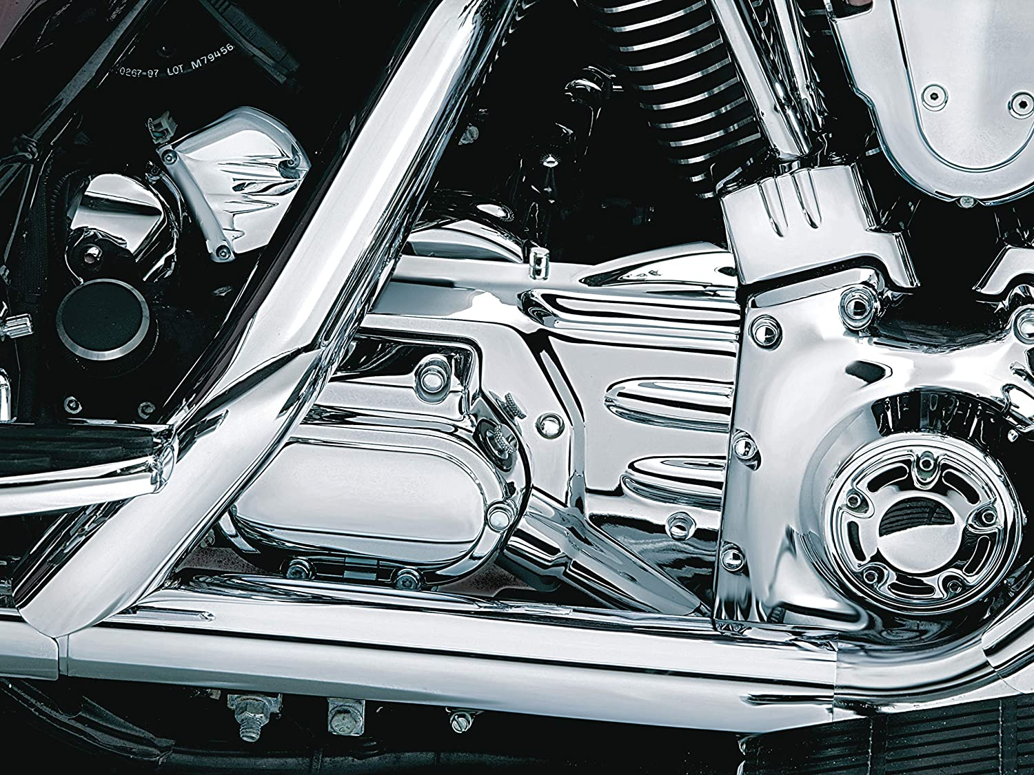 Kuryakyn 8209 Oil Line Cover and Transmission Shroud//Covering for 1999-2001 Harley-Davidson Touring Motorcycles Chrome